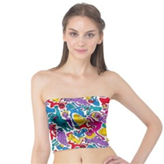 Animation Animated Cartoon Pattern Tube Top by AnjaniArt