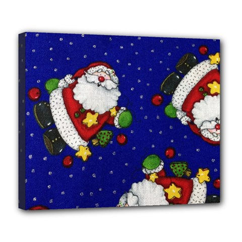 Blue Santas Clause Deluxe Canvas 24  X 20   by AnjaniArt