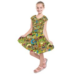C Pattern Kids  Short Sleeve Dress by AnjaniArt