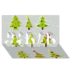Christmas Elements Stickers #1 Dad 3d Greeting Card (8x4) by AnjaniArt