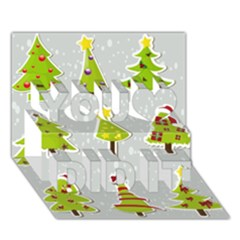 Christmas Elements Stickers You Did It 3d Greeting Card (7x5) by AnjaniArt