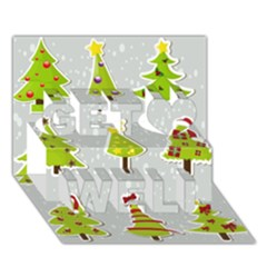 Christmas Elements Stickers Get Well 3d Greeting Card (7x5) by AnjaniArt
