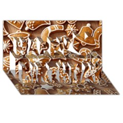 Christmas Cookies Bread Happy Birthday 3d Greeting Card (8x4) by AnjaniArt