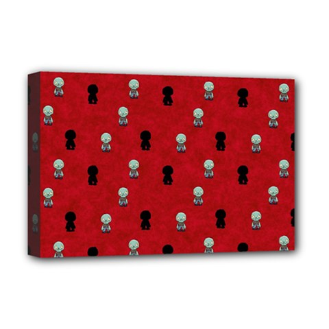 Cute Zombie Pattern Deluxe Canvas 18  X 12