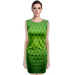 Fire Kindle Wallpaper Christmas Trees Classic Sleeveless Midi Dress by AnjaniArt
