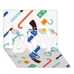 Guns Illustrations Boy 3d Greeting Card (7x5)