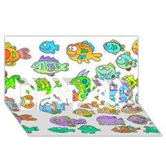 Fishes Col Fishing Fish Best Sis 3d Greeting Card (8x4) by AnjaniArt