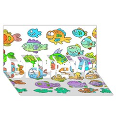 Fishes Col Fishing Fish Believe 3d Greeting Card (8x4) by AnjaniArt