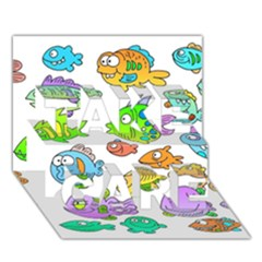 Fishes Col Fishing Fish Take Care 3d Greeting Card (7x5) by AnjaniArt