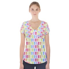 Gummibears Candy Short Sleeve Front Detail Top