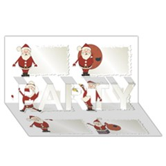Images Natale Pinterest Christmas Clipart Reindeer Party 3d Greeting Card (8x4) by AnjaniArt