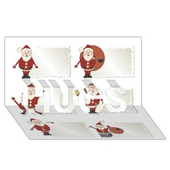 Images Natale Pinterest Christmas Clipart Reindeer Hugs 3d Greeting Card (8x4)
