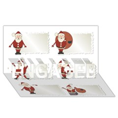 Images Natale Pinterest Christmas Clipart Reindeer Engaged 3d Greeting Card (8x4)