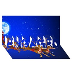 Holidays Christmas Deer Santa Claus Horns Engaged 3d Greeting Card (8x4) by AnjaniArt