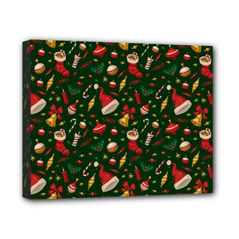 Hat Merry Christmast Canvas 10  X 8  by AnjaniArt