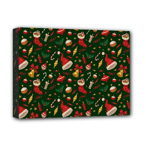 Hat Merry Christmast Deluxe Canvas 16  X 12   by AnjaniArt