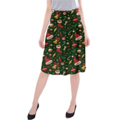 Hat Merry Christmast Midi Beach Skirt