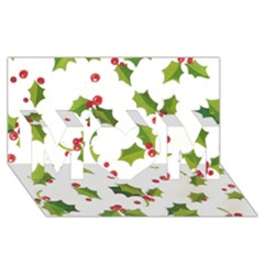 Images Paper Christmas On Pinterest Stuff And Snowflakes Mom 3d Greeting Card (8x4) by AnjaniArt