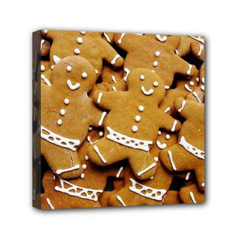Gingerbread Men Mini Canvas 6  X 6  by AnjaniArt