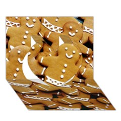 Gingerbread Men Heart 3d Greeting Card (7x5) by AnjaniArt