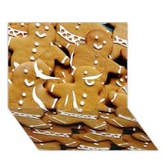 Gingerbread Men Clover 3d Greeting Card (7x5) by AnjaniArt