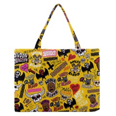 Lolzig Pattern Medium Zipper Tote Bag by AnjaniArt