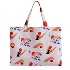 Olympics Swimming Sports Zipper Mini Tote Bag by AnjaniArt