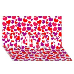 Love Pattern Wallpaper #1 Dad 3d Greeting Card (8x4) by AnjaniArt