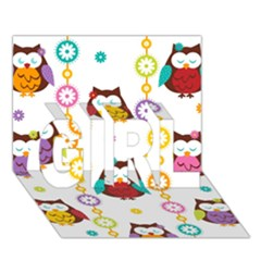 Owl Girl 3d Greeting Card (7x5) by AnjaniArt