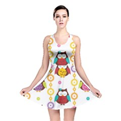 Owl Reversible Skater Dress