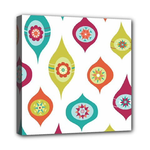 Ornaments Mini Canvas 8  X 8  by AnjaniArt