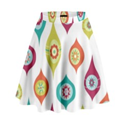 Ornaments High Waist Skirt