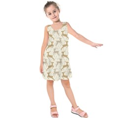 Paper Gift Deer Kids  Sleeveless Dress by AnjaniArt