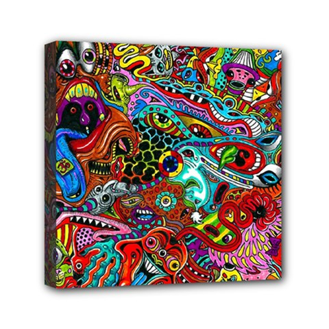 Moster Mask Mini Canvas 6  X 6  by AnjaniArt