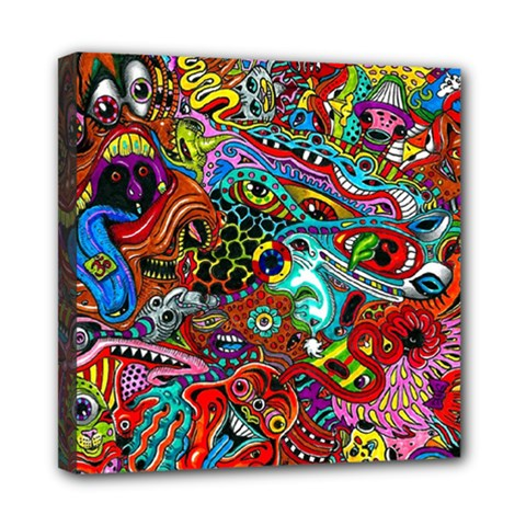 Moster Mask Mini Canvas 8  X 8  by AnjaniArt