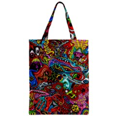 Moster Mask Zipper Classic Tote Bag by AnjaniArt
