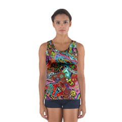 Moster Mask Women s Sport Tank Top  by AnjaniArt