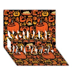 Pumpkin Helloween You Are Invited 3d Greeting Card (7x5) by AnjaniArt