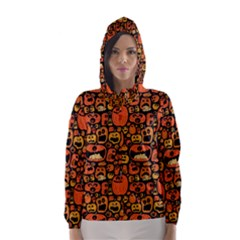 Pumpkin Helloween Hooded Wind Breaker (women)