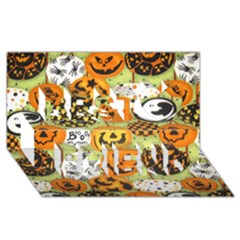 Print Halloween Best Friends 3d Greeting Card (8x4)