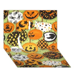 Print Halloween Apple 3d Greeting Card (7x5) by AnjaniArt