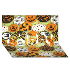 Print Halloween Sorry 3d Greeting Card (8x4)