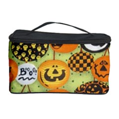 Print Halloween Cosmetic Storage Case by AnjaniArt