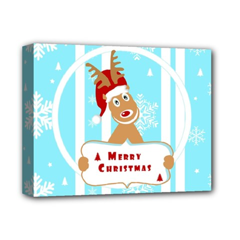 Santa Claus Reindeer Christmas Deluxe Canvas 14  X 11  by AnjaniArt