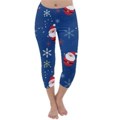 Santa Clause Capri Winter Leggings  by AnjaniArt