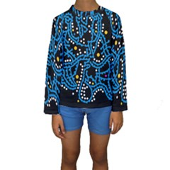 Blue Fantasy Kids  Long Sleeve Swimwear