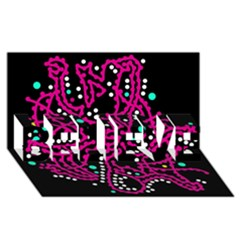 Pink Fantasy Believe 3d Greeting Card (8x4) by Valentinaart