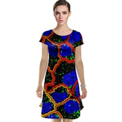 Single Cells Gene Edges Zoomin Color Cap Sleeve Nightdress