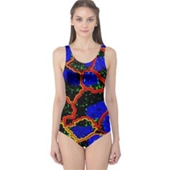 Single Cells Gene Edges Zoomin Color One Piece Swimsuit