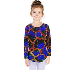 Single Cells Gene Edges Zoomin Color Kids  Long Sleeve Tee